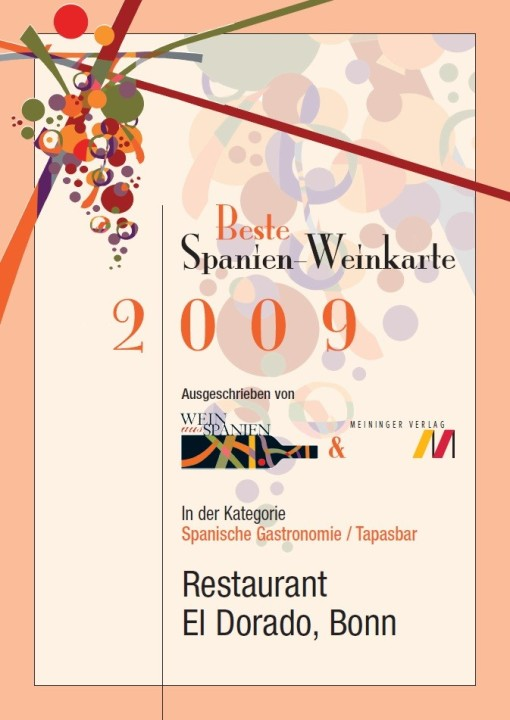restaurant el dorado beste spanienweinkarte deutschlands. Black Bedroom Furniture Sets. Home Design Ideas
